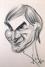 20th Century English School.    A Caricature of a