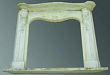 A SUPERB 19TH CENTURY WHITE MARBLE FIREPLACE with