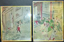 A PAIR OF 19TH CENTURY CHINESE FRAMED PAINTINGS ON