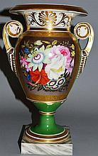 A GRAINGER'S WORCESTER VASE AND COVER, signed and
