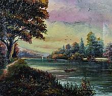 19th Century English School.    A River Landscape,