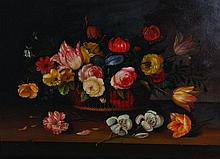 A... Frist (20th Century).    Still Life of Flowers
