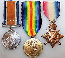 TWO 1914-1918 MEDALS, A STAR.