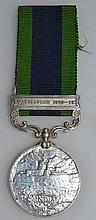 INDIA GENERAL SERVICE MEDAL GEORGE V, green and br