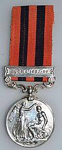 INDIA GENERAL SERVICE MEDAL 1887-1889, with ribbon