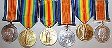 THREE PAIRS OF 1914-1918 WAR MEDALS AND VICTORY ME