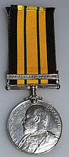 AFRICA GENERAL SERVICE MEDAL 1902, with ribbon yel