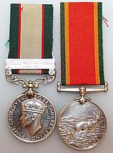 AFRICA SERVICE MEDAL, with ribbons, awarded to 287