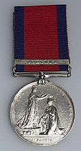 MILITARY GENERAL SERVICE MEDAL 1793-1814, with rib