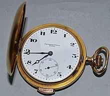 A GENTLEMAN'S 18CT GOLD REPEATER FULL HUNTER POCKE