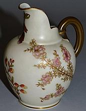 A LATE 19TH CENTURY ROYAL WORCESTER JUG, shape 109