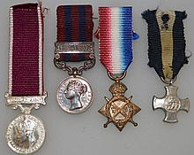 FOUR MINIATURE MEDALS.
