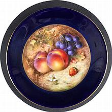 A ROYAL WORCESTER PLATE painted by R Sebright,
