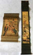 A JAPANESE HANGING SCROLL PRINT AFTER SHIGEMASO