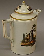 AN 18TH CENTURY GERMAN COFFEE POT AND COVER, well