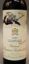 Ch. Mouton Rothschild, Pauillac, 1996, one bottle.