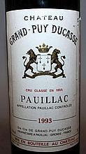 Ch. Grand-Puy Ducasse, Pauillac, 1993, one bottle.