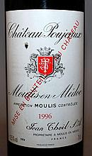 Ch. Poujeaux, Moulis-en-Medoc, 1996, two bottles.