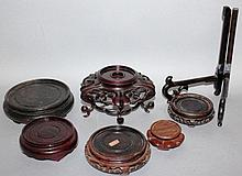 SEVEN VARIOUS CHINESE STANDS.