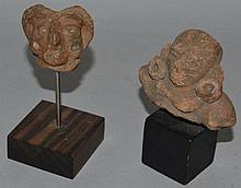 TWO SMALL TERRACOTTA ANTIQUITIES.
