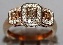 A GOOD DIAMOND RING set in 9ct gold.