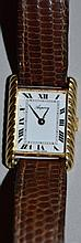 A VERY GOOD LADIES 18CT YELLOW GOLD WRISTWATCH wit