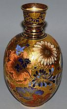 A 19TH CENTURY ROYAL CROWN DERBY OVOID VASE OF ISL