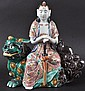 A 19TH CENTURY JAPANESE AO KUTANI FIGURE OF A