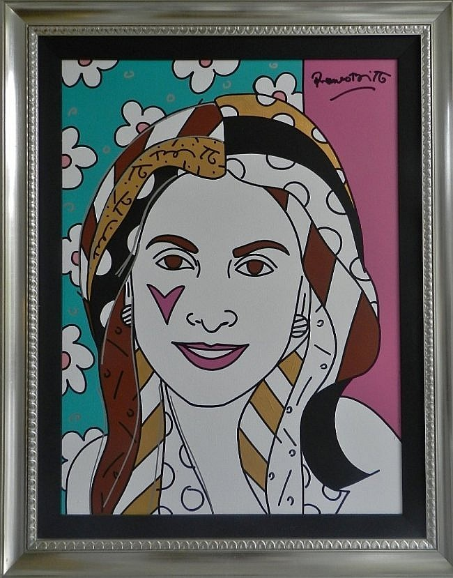 Romero Britto ( b. 1963 ) Acrylic on Canvas
