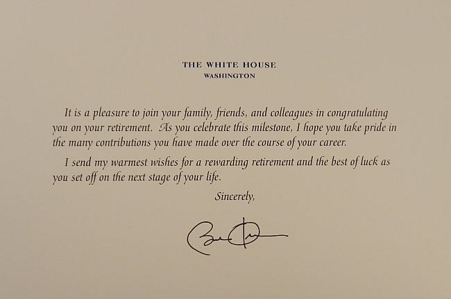 Barrack Obama Hand Signed Correspondence Letter