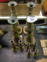 EARLY VARIOUS CANDLE STICKS