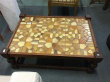 COFFEE TABLE TIMBER FRAME TILE TOP