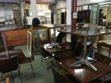 6x SQUARE CAFE TABLES