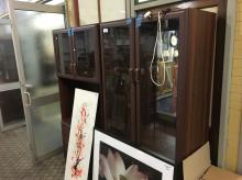 2 SECTION DISPLAY CABINET