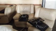 4 section Leather Lounge