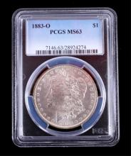 1883-O Morgan Silver Dollar PCGS MS63 This coins w