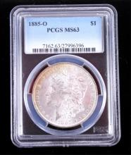 1885-O Morgan Silver Dollar PCGS MS63 This coins w