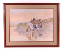 O.C. Seltzer Framed Native American Print