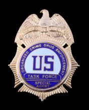 US Organized Crime Special Agent Task Force Badge
