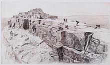 First Mesa Etching by Edward Borein (1873-1945)