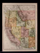 Denver to Pacific Forest & Parks Map McNally 1912