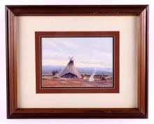 Dustin Lyon Original Framed Watercolor