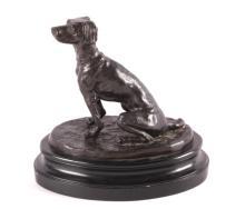 Antique American Hunting Dog Bronze
