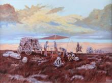 Montana Cowboy Dinner by Fred Fellows Original Art