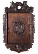 German Black Forest Carved Cabinet circa 1870's