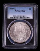 1884 PCGS Graded Carson City Morgan Silver Dollar