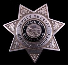 Missoula County Montana Deputy Sheriff Badge