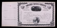 Moulton Mining Stock from Butte Montana