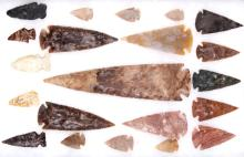 Ancient Plains Indian Spearhead Collection