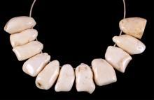 Alaskan Eskimo Walrus Ivory Hunter Trophy Necklace